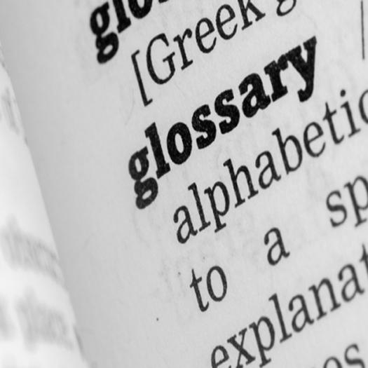 Weyfringe labelling glossary